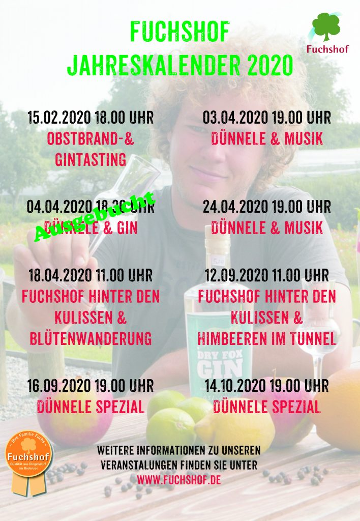 Fuchshof Jahreskalender